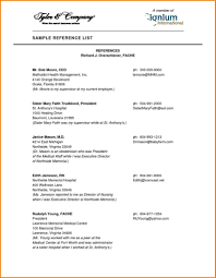 References Sheet Resume Reference Template For With How To Make