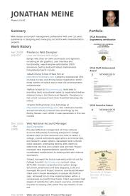 Freelance Web Designer Resume samples. Work Experience