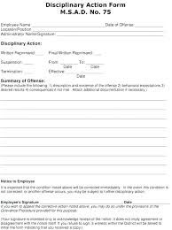 Employee Disciplinary Action Form Delectable Employee Discipline Form Simple Resume Examples For Jobs