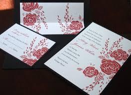 Red Rose Wedding Invitation Romantic Valentines Wedding Etsy