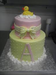 Ducky and bubbles girl baby shower cake | Cakes | Pinterest | Girl ...