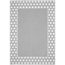 polka dot frame silver white 5 ft x 7 ft area rug