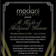 Modani Furniture presents A Night of Hollywood Glamour LA Guestlist