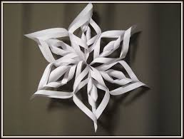 Christmas Arts And Crafts For Kids Paper Snowflake Art And Craft For Kids How To Make 3d Christmas
