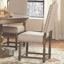 Nailhead Trim Grau Stoff Esszimmerstühle Moderne Sessel Rosa