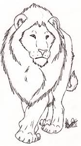Free Lion Sketch By Rurouna By