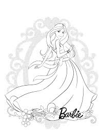 Princess Barbie Coloring Pages Antiatominfo