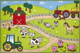 farm play mat 100 x 150 cm