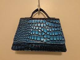 Laila <b>Essence</b> of Norway Geir Ness PURSE Faux BLUE <b>reptile</b> NEW ...