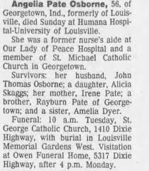 Obituary for Angelia Pate Osborne (Aged 56) - Newspapers.com