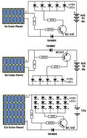 solar powered led light circuit diagram and schematic design tech circuits automatically turns on and illuminates the leds when the solar panel does not detect any light see more circuit diagram