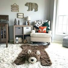 bear rug nursery regular size faux woodland baby room teddy