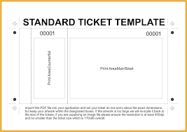 Event Tickets Template Word Photo Numbered Ticket Template