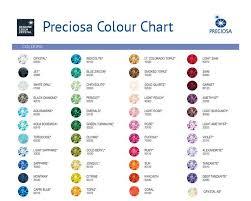 Explanatory Preciosa Color Chart Preciosa Crystal Beads