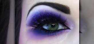 dramatic purple eye makeup look