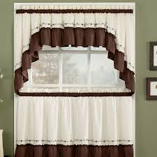 beautiful kitchen curtains for kitchen decoration ideas white and brown tier kitchen curtains