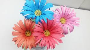 Flower Out Of Paper How To Make Aster Flower Out Of Colour Paper Easy Way To Make