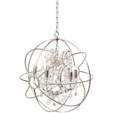 libra company chesterford 036224 small nickel globe chandelier ceiling light