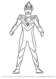 learn how to draw ultraman orb ultraman step by step drawing tutorials