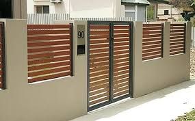 Aluminum Metal Steel Frame Fence Gates Main Gate And Fence Wall