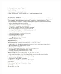maintenance worker resume maintenance resume 9 free word pdf documents download free