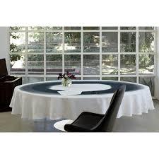 black white watercolor oval tablecloth pure linen modern unique designer huddleson linens