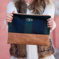 make your bridesmaids feel extra special with these plaid monogrammed makeup pouches from highway12designs
