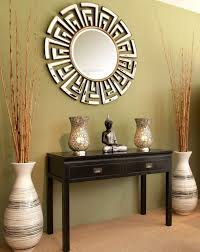 Floor Vases Decor With Modern Mirror And Table Also Budha Statue