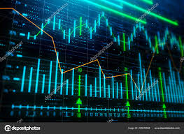 Investment Trade Growth Concept Creative Glowing Forex Chart