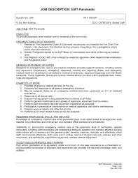 Elegant Emt Job Description Tesstermulo Com