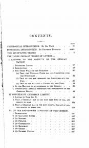 first principles of the reformation or the theses and the three  original table of contents or first page