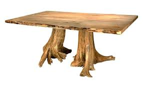 tree trunk dining table double stump dining table tree trunk dining table diy