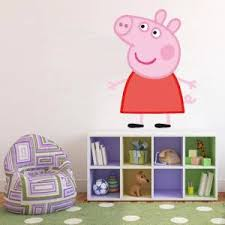 peppa pig decal removable wall sticker home decor art kids bedroom cartoon ebay on peppa pig wall art stickers with peppa pig decal removable wall sticker home decor art kids bedroom