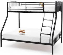 black metal bunk bed. Serene Oslo Black Metal Three Sleeper Bunk Bed