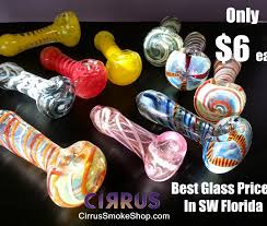 6 glass pipes