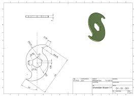 Machine Design Drawing Blade Drawing Drawing Tools Machine Design 3d Printer