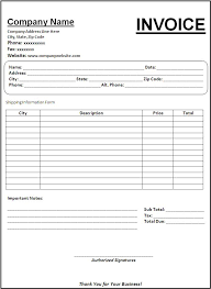 sample billing invoice invoice form template