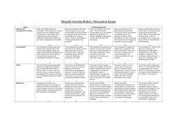 rubrics for high school history essays