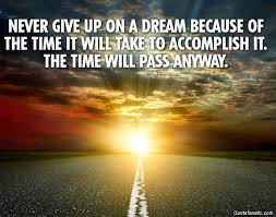 Quotes Never Give Up On Your Dreams Best of Never Give Up On A Dream Because Of The Quote Fanatic