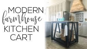 diy kitchen island cart. DIY Modern Farmhouse Kitchen Island Cart Diy R