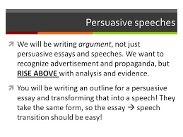 speech and argument unit ppt  persuasive speeches
