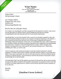Janitorial Cover Letter Janitor Maintenance Cover Letter Example