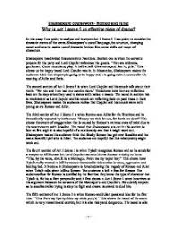 shakespeare coursework romeo and juliet why is act scene an   shakespeare · romeo juliet page 1