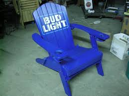 bud light folding adirondack chair ice fishing ammo outdoors tools cast cds military k bid