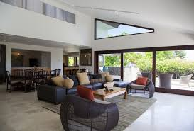 designing a living room space. living room of large modern home designing a space
