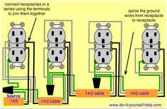 374 best residential wiring images in 2019 electrical engineering wiring diagram for a series of receptacles electrical wiring diagram electrical outlets outlet wiring