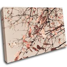 rose gold leaves autumn copper canvas