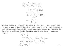 a second solution to this problem is obtained by determining the heat transfer rate from the
