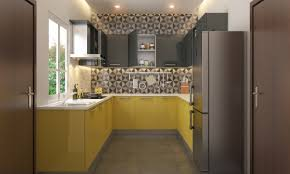 Modular Kitchen India Designs Add A Geometric Touch To Your Kitchen Yellow Modular Kitchen