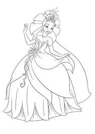 Small Picture Princess Tiana And The Frog Prince Ready To Marry Coloring Pages